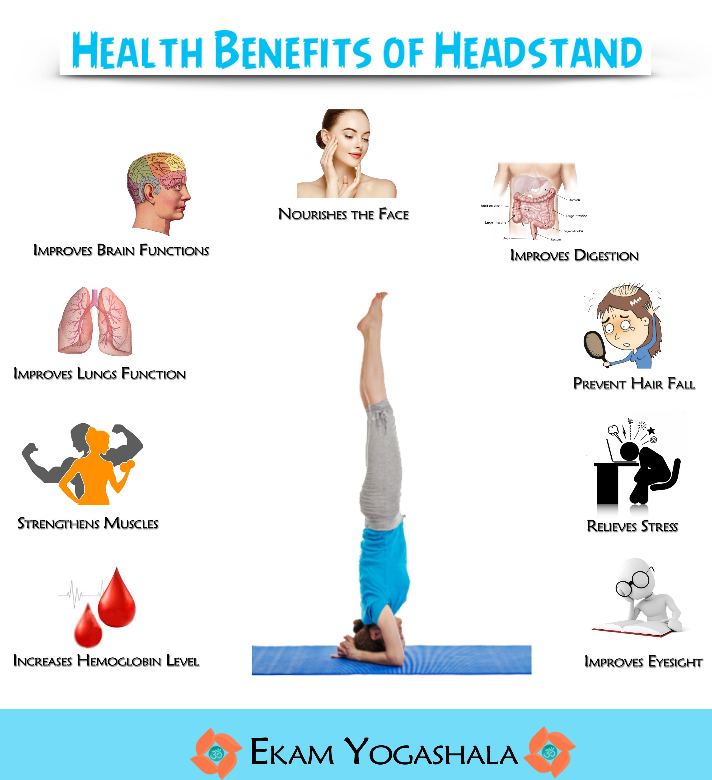 Headstand Yoga Health Benefits