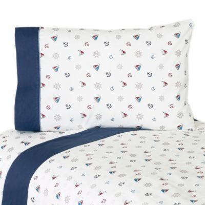 Sweet Jojo Designs Nautical Nights Sheet Set - BedBathandBeyond.com