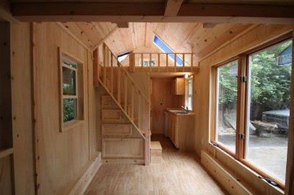 136 Sq Ft Used Molecule Tiny House For Sale Sold Tiny House Stairs Tiny House Loft Tiny House Cabin