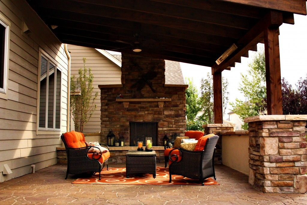 Beau Lindgren Landscape Gas Fireplace And Covered Patio