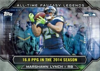 2015 Topps - All Time Fantasy Legends #ATFL-ML Marshawn Lynch Front