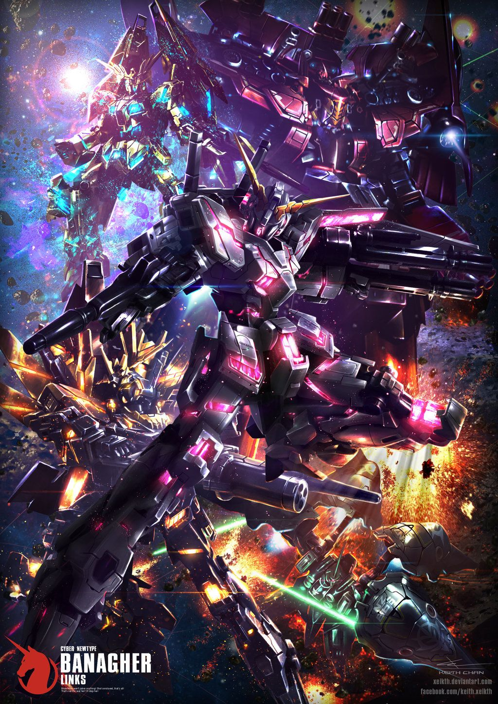 Gundam Digital Art Works By Keith Chan Xeikth Gundam Wallpapers Gundam Gundam Art