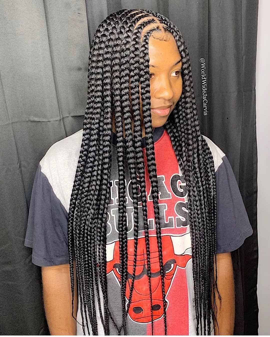 Cute And Easy Braided Hairstyles Braidedhairstyles Box Braids Styling Box Braids Hairstyles Braided Hairstyles Easy