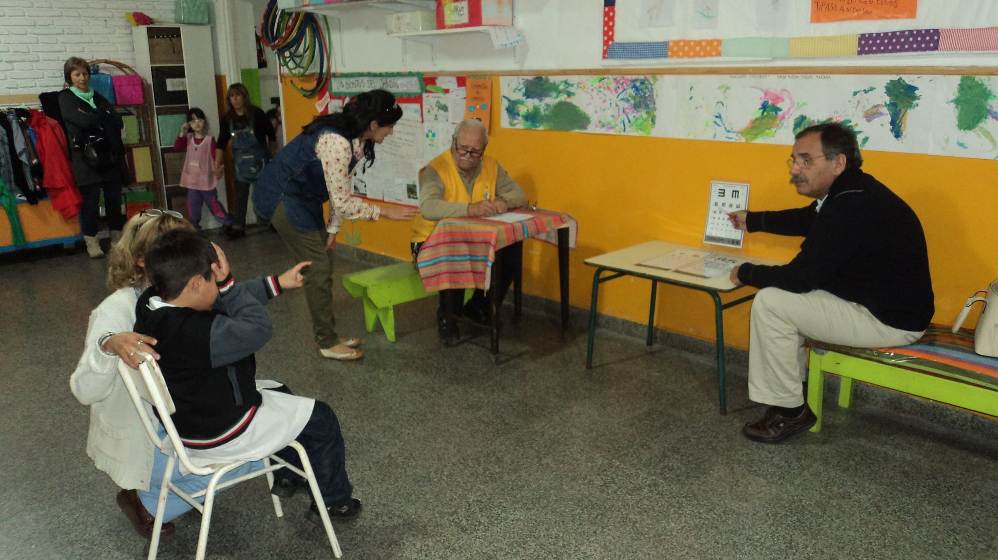 Punta Alta #LionsClub (Argentina) provided vision screening for preschoolers