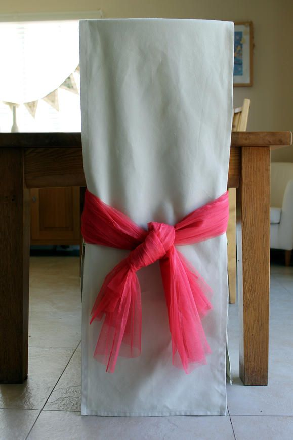 Basic Chair Cover - SUPPLY LIST Approx 1.5yds heavy weight fabric such as canvas. Size will vary depending on chair. &  Organza or ribbon