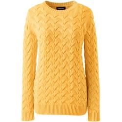 Photo of Cable Knit Sweater Drifter – Yellow – 48-50 from Lands 'End Lands' End