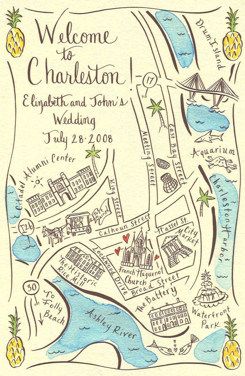 Couture Maps by Stephannie Barba, Welcome to Charleston, Top 5 Fun ...