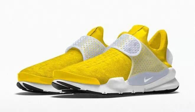 cheap for discount 6a2d6 c77a4 2017 Fall Winter Lemon Yellow Fragment x Nike Sock Dart UK Trainers