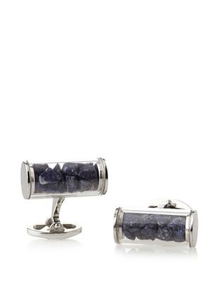 58% OFF Jan Leslie Lapis Tube Sterling Silver Cufflinks