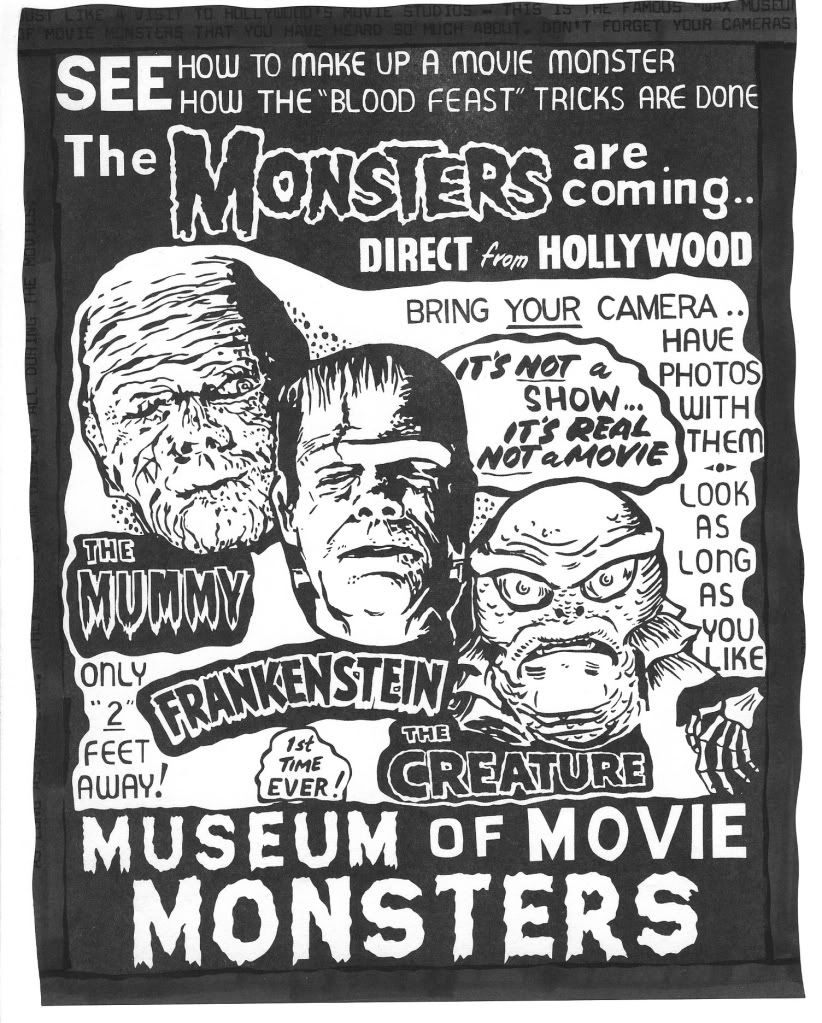 Spook show posters and memorabilia in classic horror movie Classic home appliance films