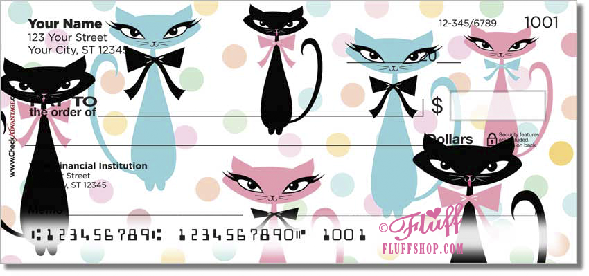 Kitty Galore! Now on checks, checkbook covers and address labels! https://www.checkadvantage.com/kitty-galore-checks
