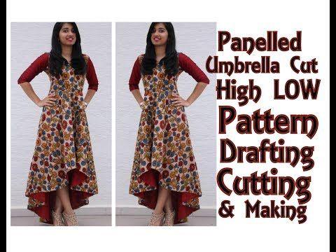 Panelled UMBRELLA CUT High LOW Kurta Pattern Drafting 75c4f828c