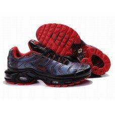 Hommes Nike Air Max TN Noir/Bleu/Rouge | Nike air max tn, Nike air ...