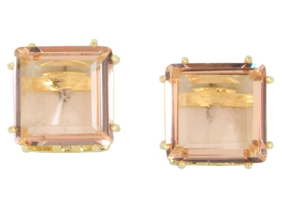 Delicado e ousado ao mesmo tempo! Este brinco de cristal é um arraso e combina com a maioria dos looks! #brinco #cristal #quadrado #castelloreis