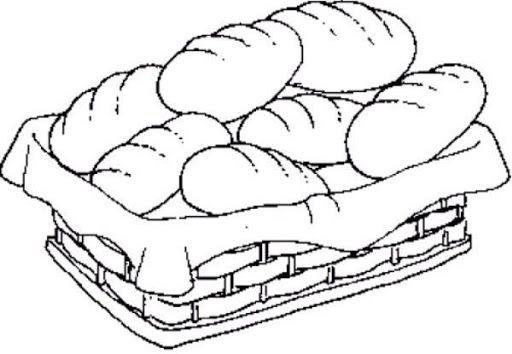 pan para colorear   Buscar con Google | Escuela dominical | Pasta
