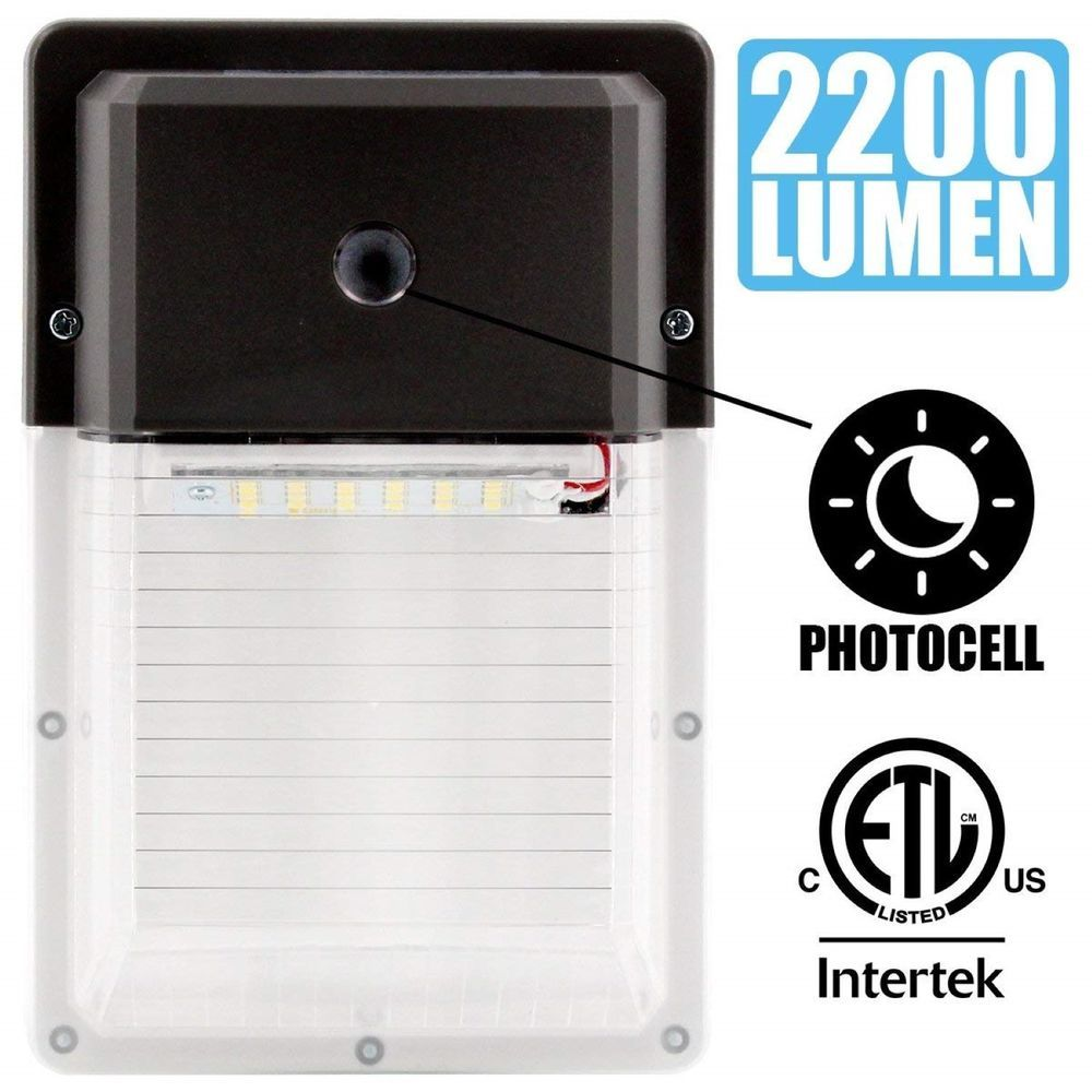 Outdoor Dusk To Dawn Led Wall Mount Security Light Photocell Photocells For Lights Lighting Waterproof