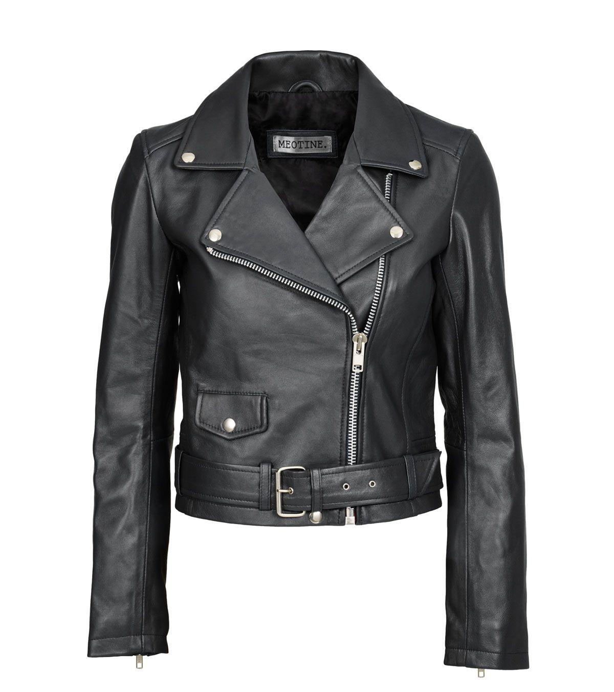 Vigga Biker Black Leather jacket, Jackets, Biker style