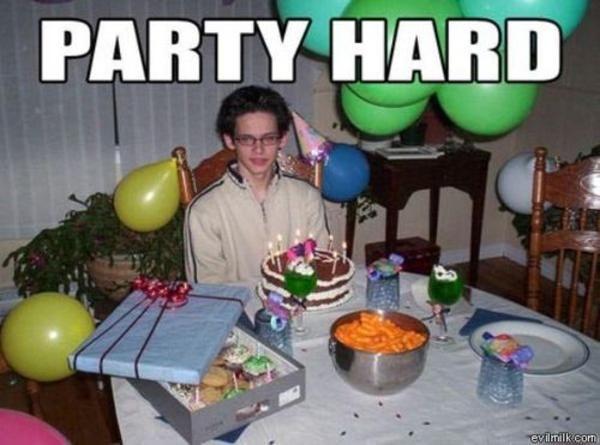 Party Alone Lol Pinterest Happy Birthday Funny Funny Happy