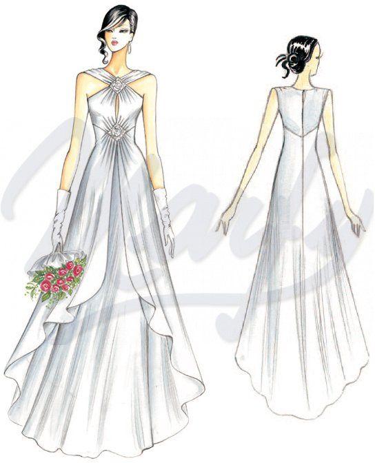 wedding dress pattern S949   Marfy   Pinterest   Wedding dress ...