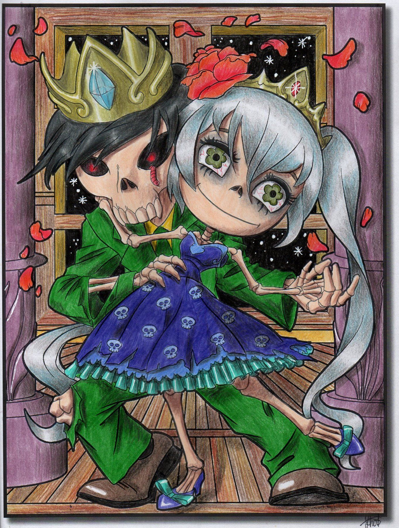 Chibi Girls Horror Chibi girl, Adult coloring