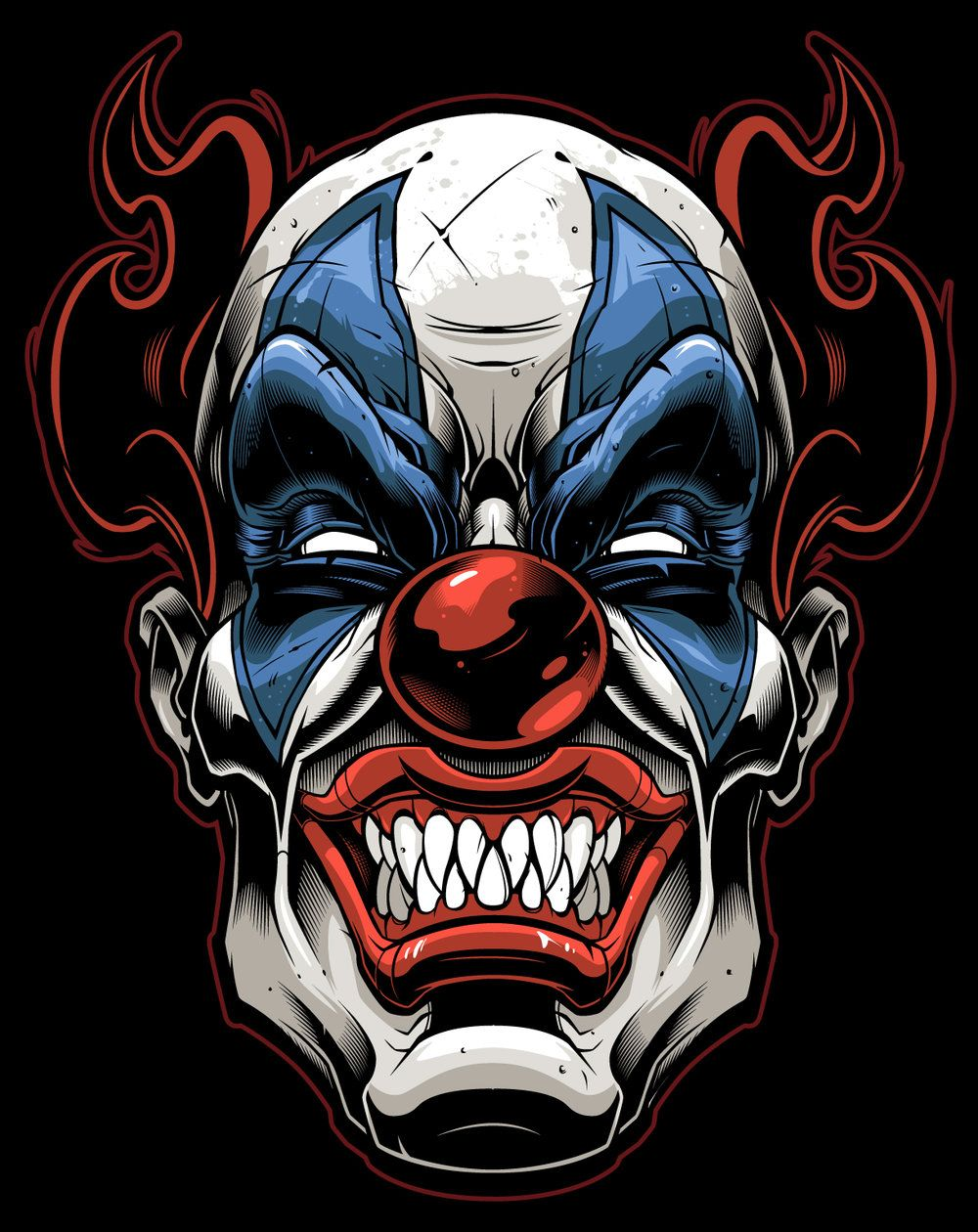 Evil clowns scary clowns clown faces clown tattoo artist supplies t