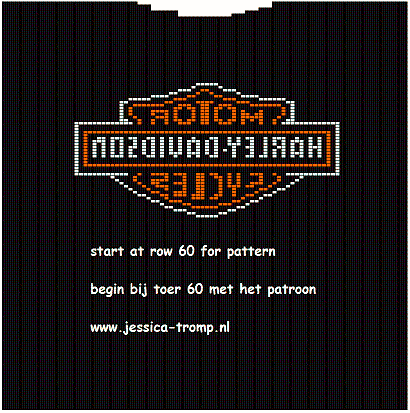free harley davidson pattern chart for sweater | knitting | Pinterest