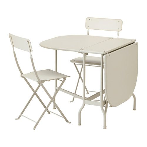 Interesting ikea saltholmen folding chairs outdoor both - Table ronde rallonge 12 personnes ...