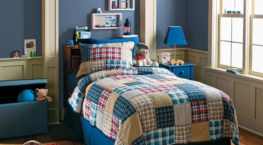 Benjamin Moore Solar System For The Boys Room Plaid