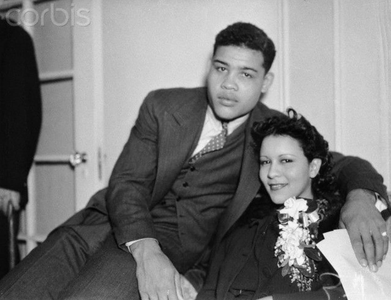 Joe louis and his beautiful wife marva trotter 1930s