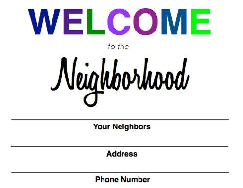image relating to Welcome to the Neighborhood Printable named Welcome in the direction of the Regional No cost Printable and straightforward towards generate