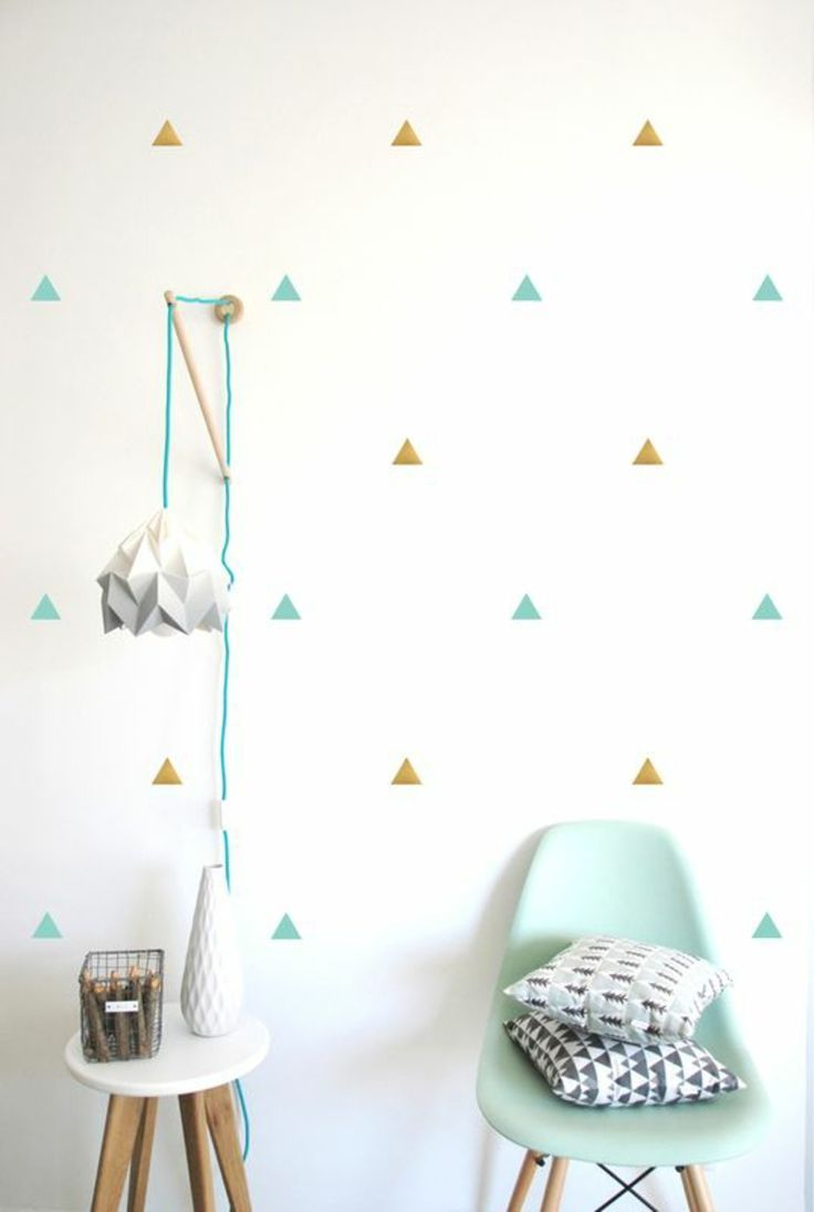 farbige Dreiecken Tapeten für Kinderzimmer | Tapeten & Poster für\'s ...