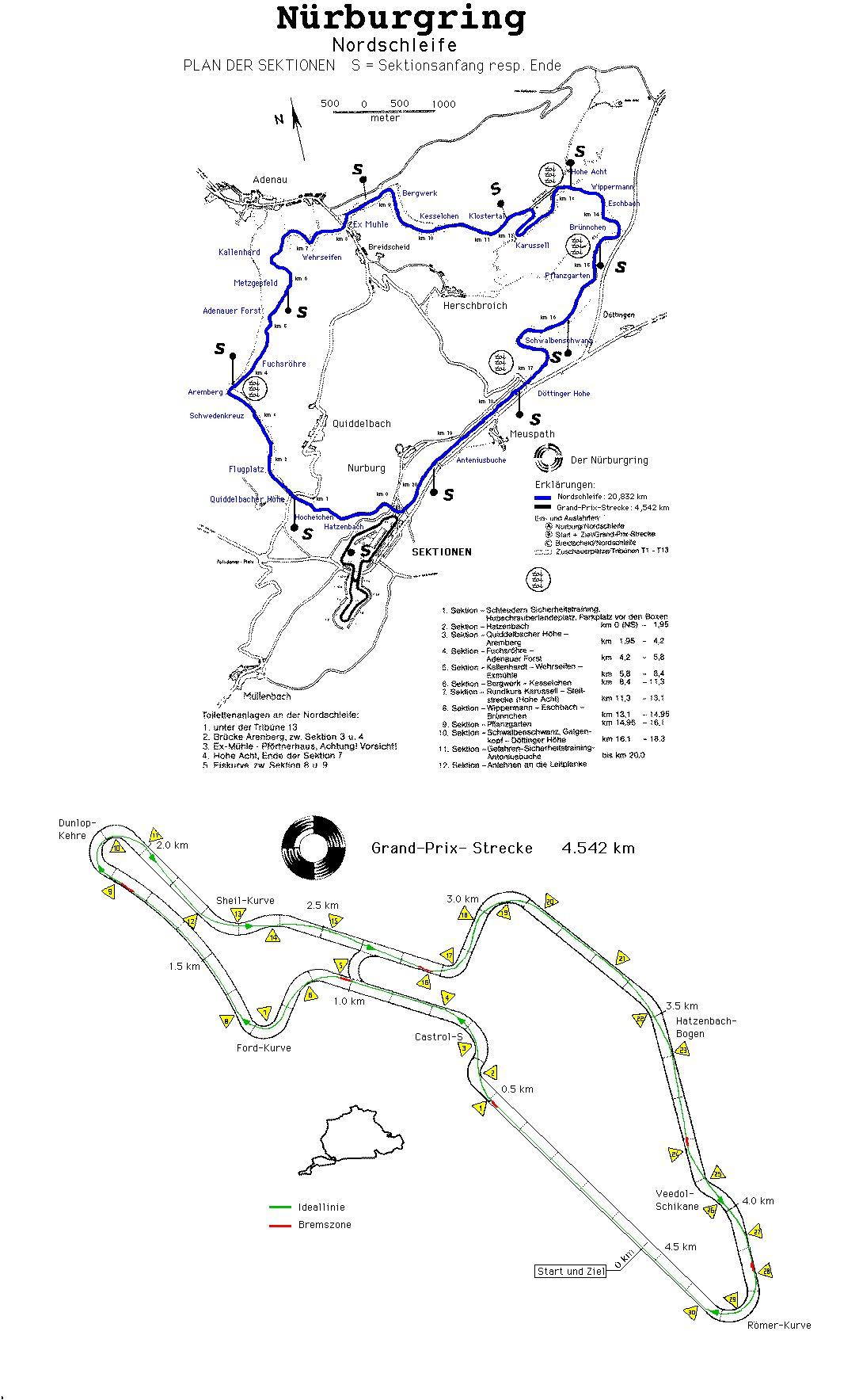 Nurburgring Map