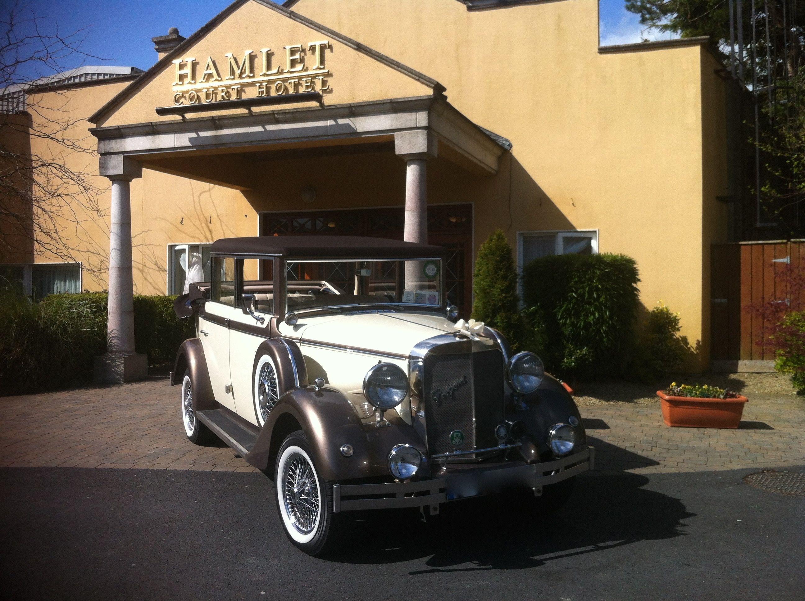 Regent Wedding Car Hamlet Court Hotel Kildare With Images Wedding Car Court Hotel Vintage Car Wedding