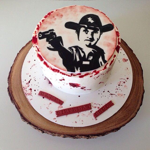Rick Grimes The Walking Dead Cake By Kristy Dax Cakesbykristy