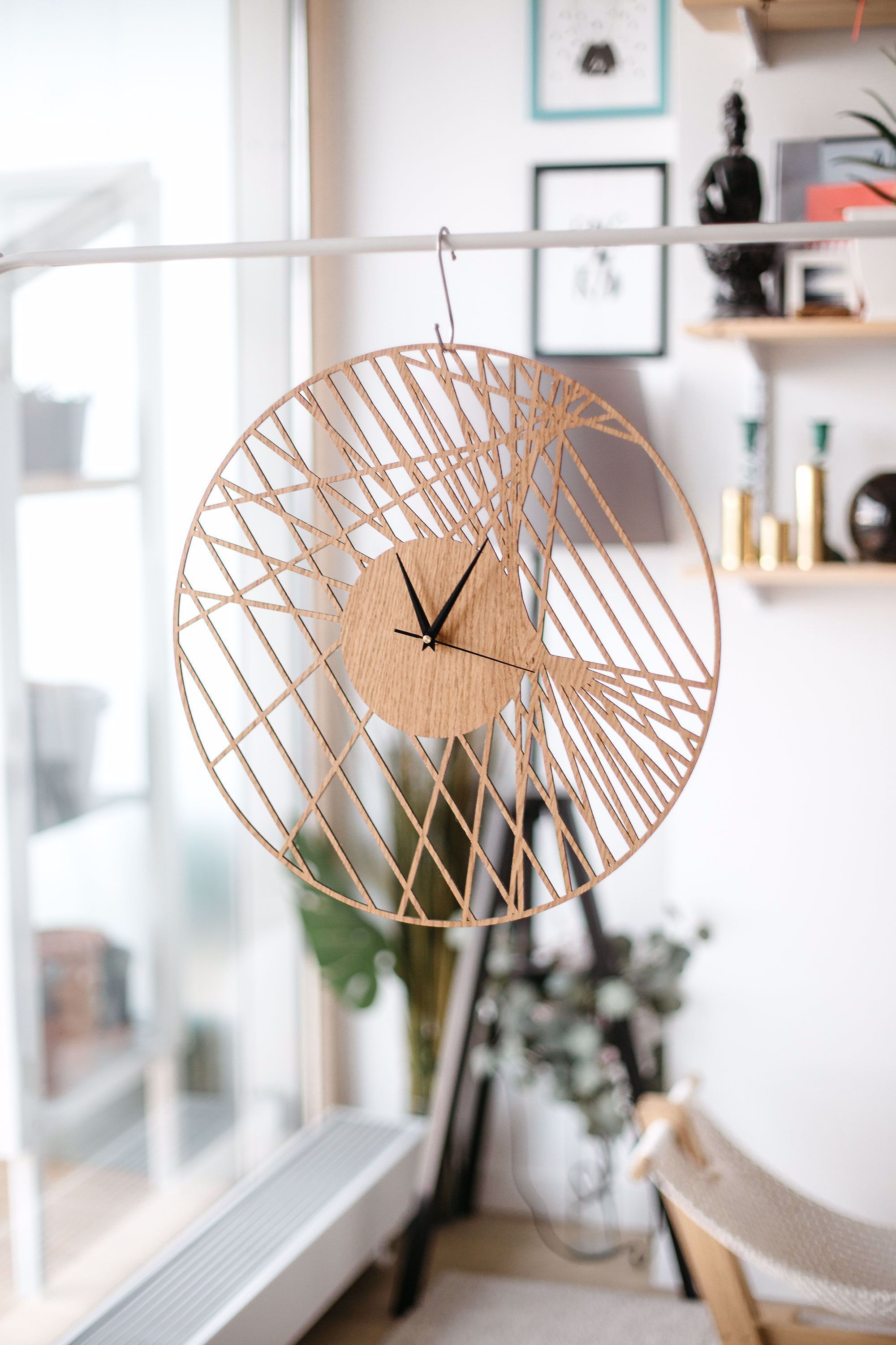 Unique Wall Clocks Large Wall Clock Bedroom Decor Modern Wall Clock Gift For Home Decor In 2020 Bedroom Wall Clock Living Room Clocks Large Wooden Wall Clock