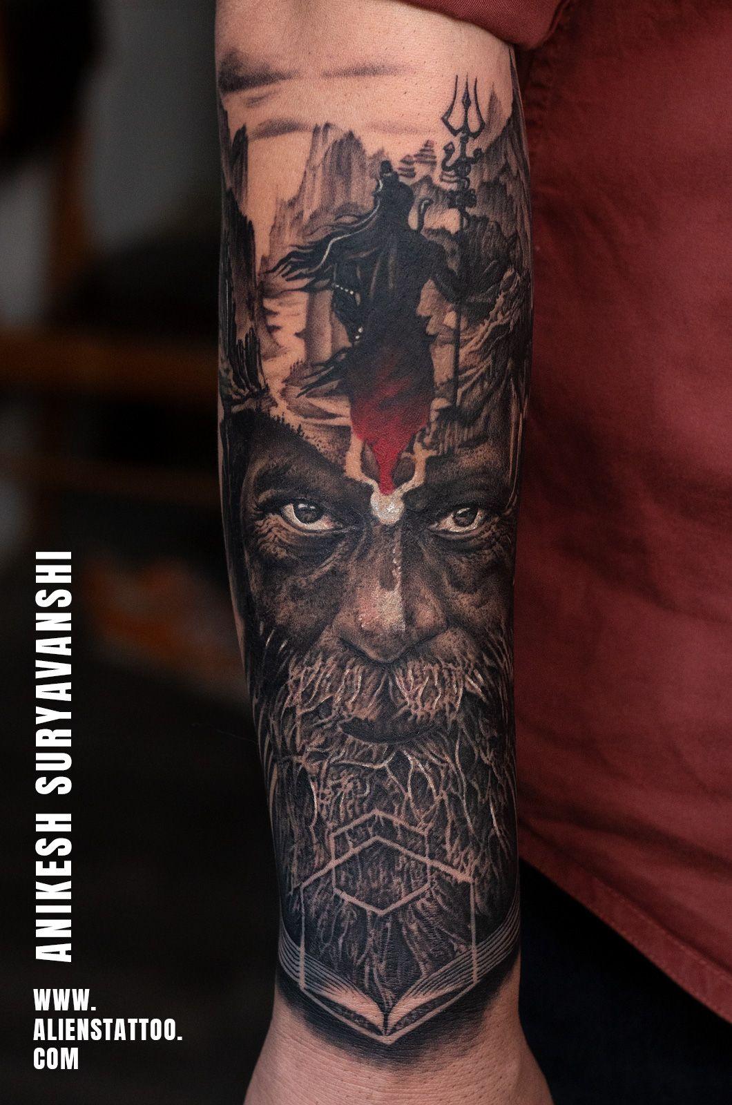 Anikesh suryavanshi alien tattoo tattoos for guys
