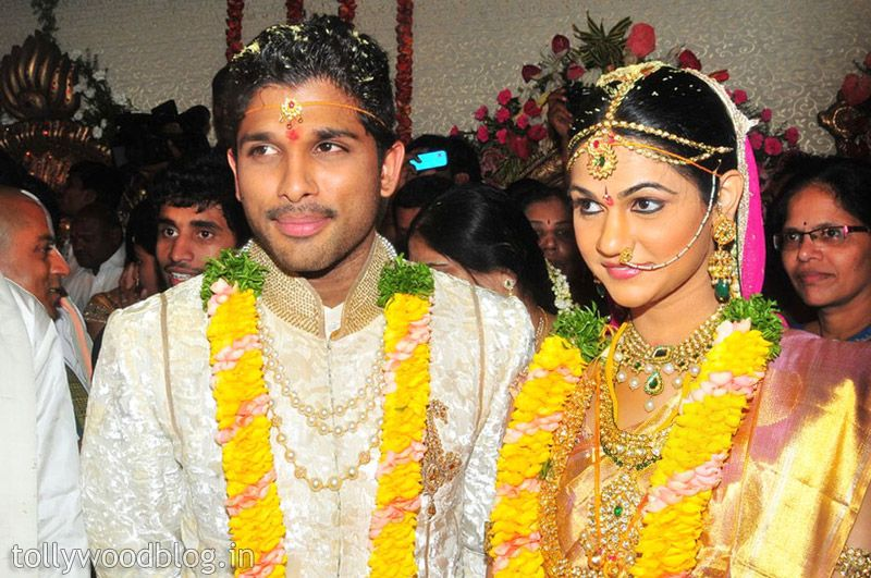 Allu Arjun Sneha Reddy Marriage Photo01 Telugu Movie Still Pic Photo Image Hot Actress Masala Heroine
