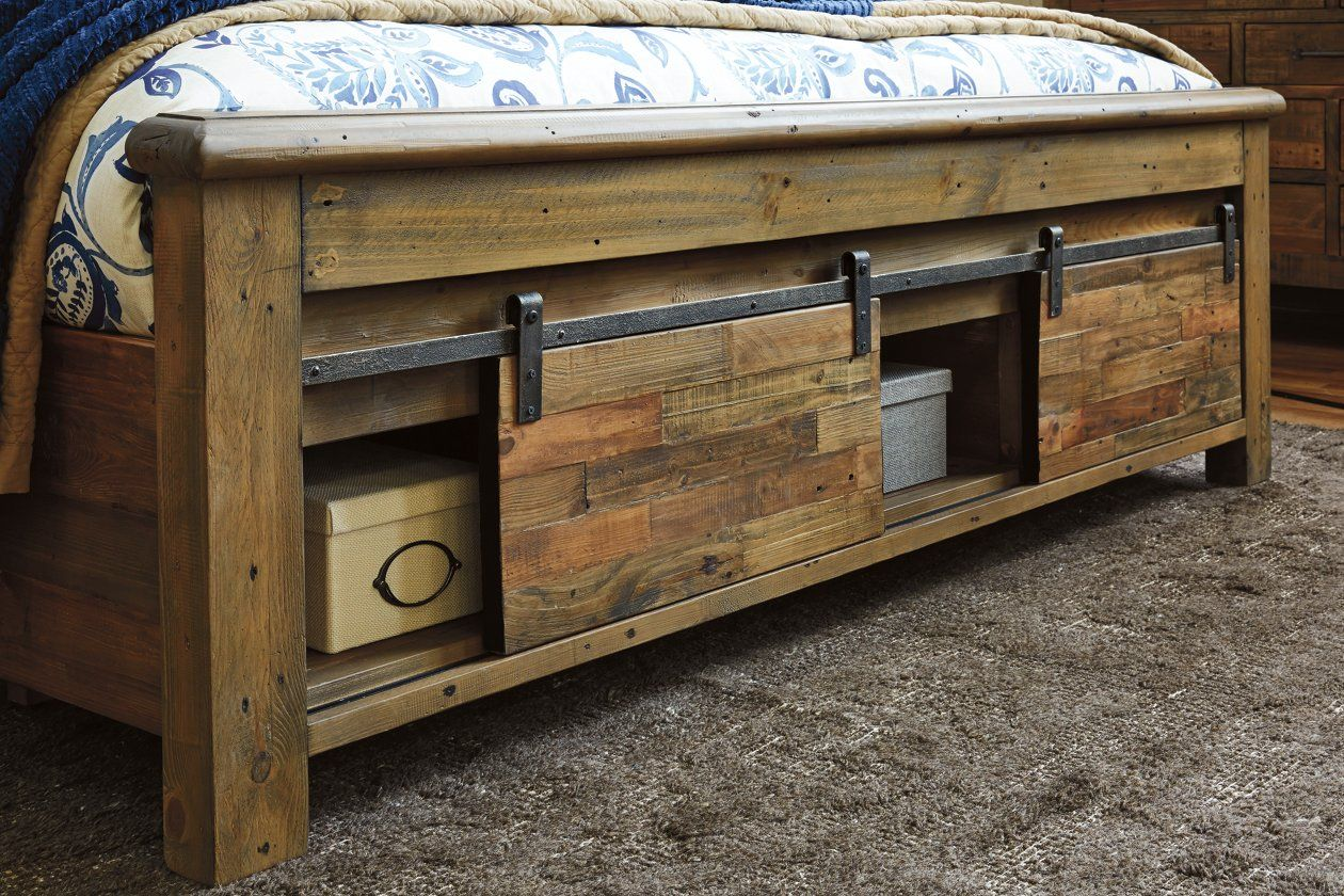 Sommerford Queen Panel Bed With Storage Ashley Furniture Homestore In 2020 Storage Bed Bed Storage Queen Panel Beds