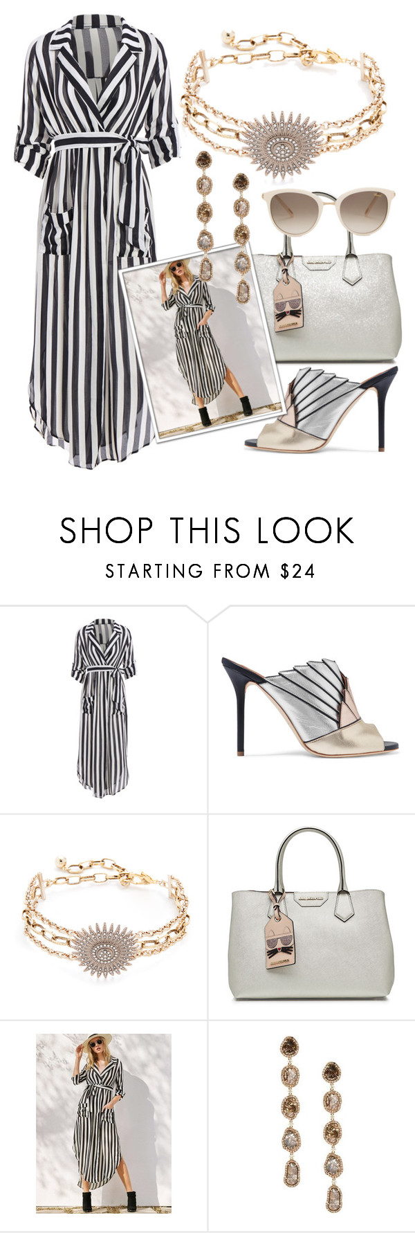 """""""Untitled #190"""" by glamheartcafe ❤ liked on Polyvore featuring Malone Souliers, Lulu Frost, Karl Lagerfeld, Saqqara and Chopard"""