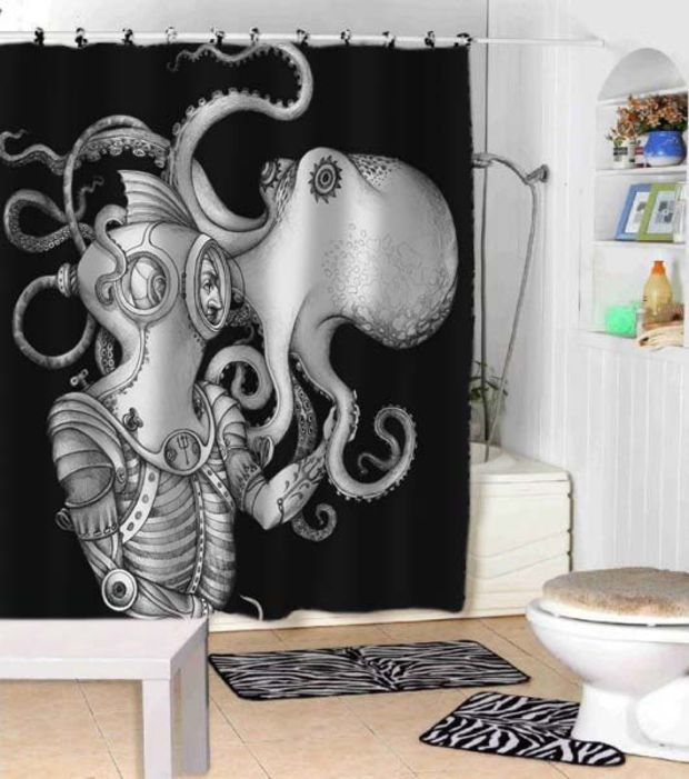 Deep Sea Discovery Octopus Shower Curtains Adorabel Bathroom And Heppy