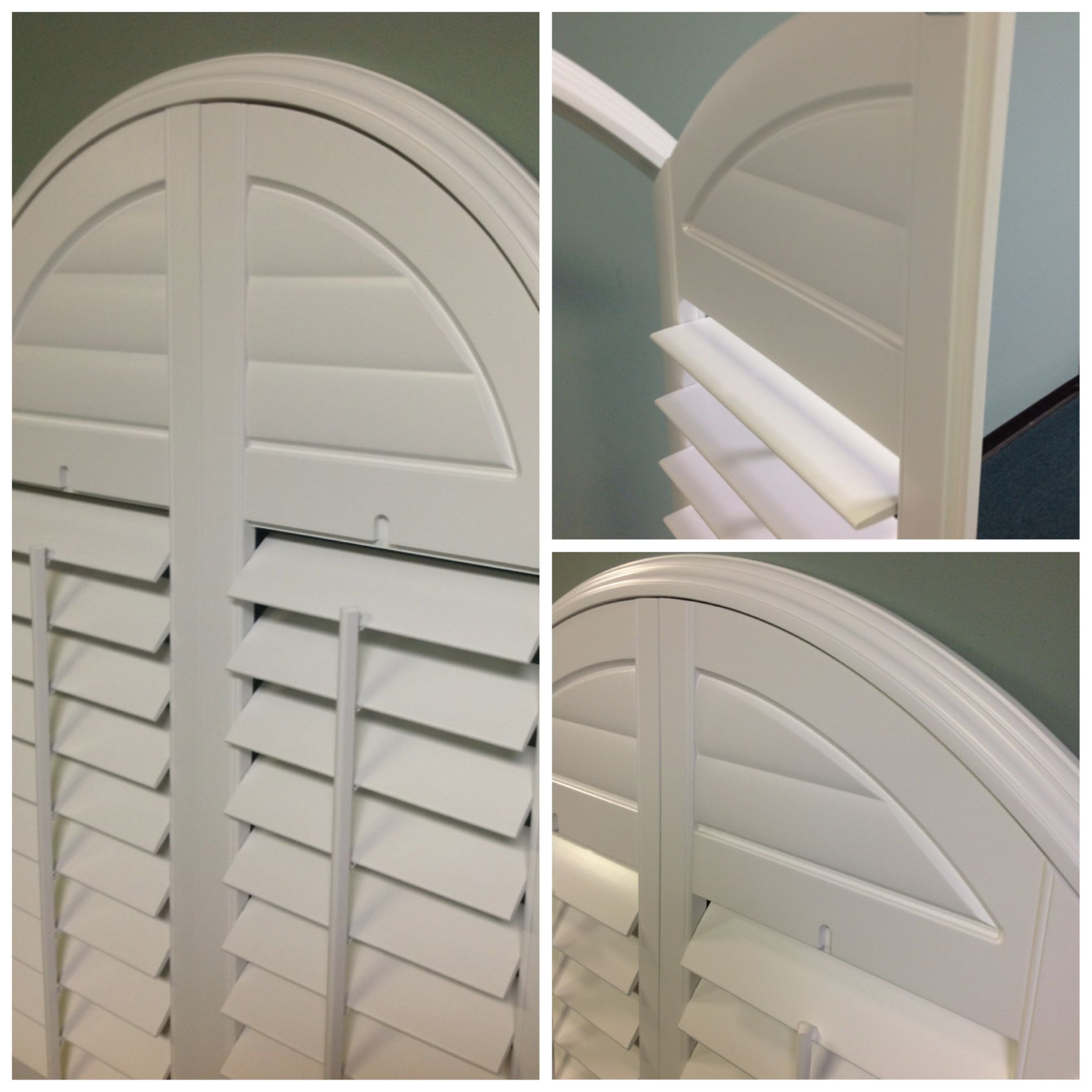 New Post Oak Arch Series From Rockwood Shutters Louvers Are Etched Front And Back Into A Solid