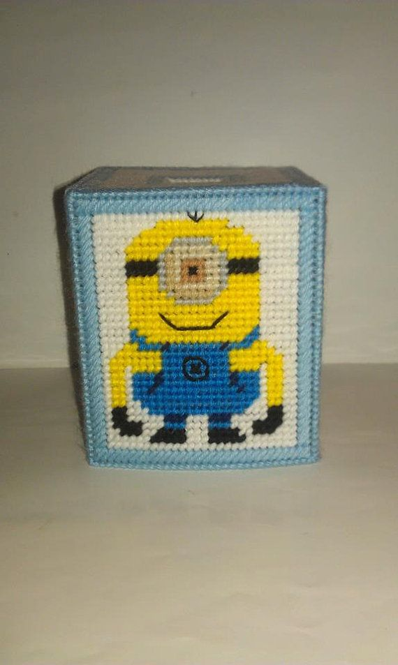 Handmade Despicable Me Tissue Box Cover Plastic by Marsha1991, $12.00