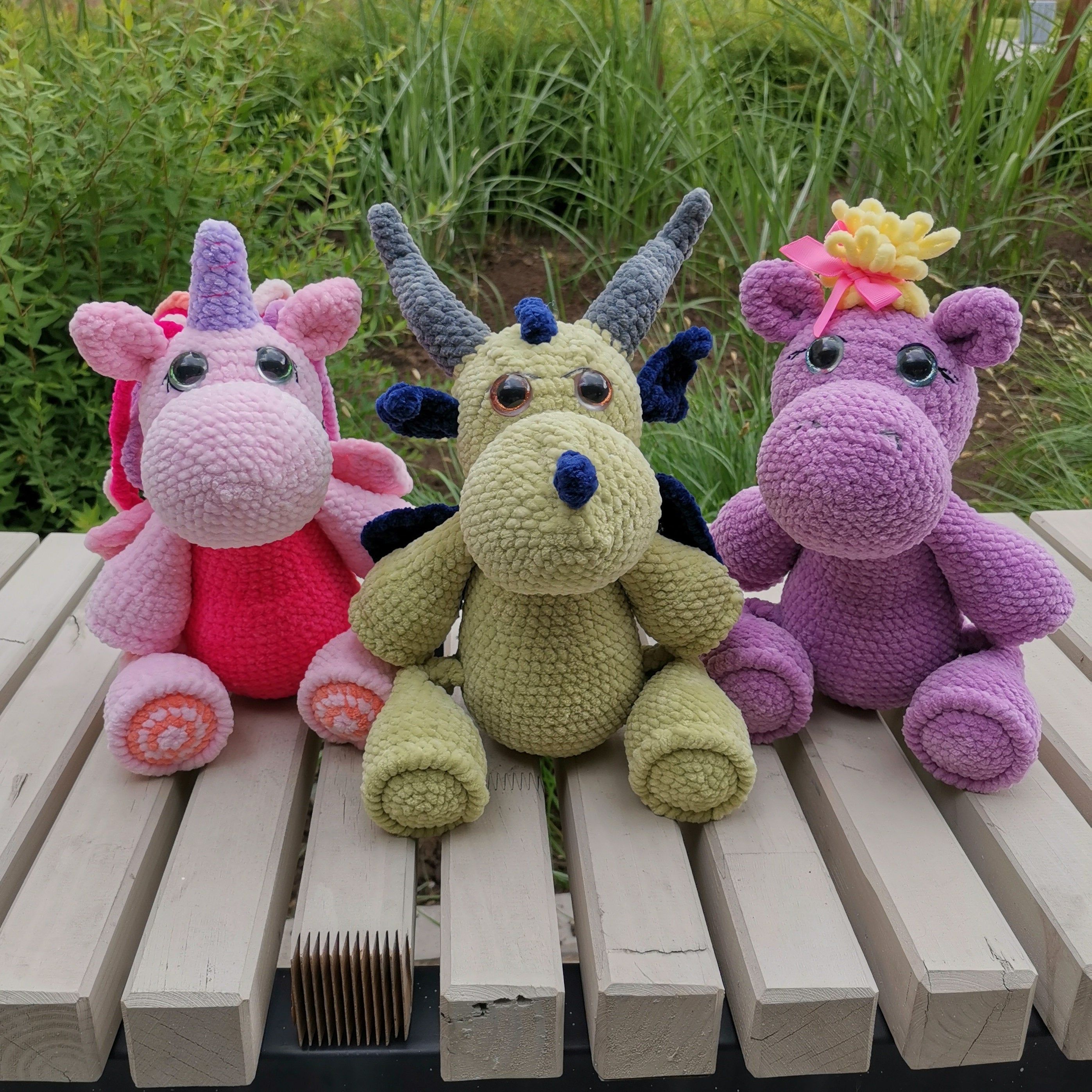 English Crochet Pattern series 3 in 1, Amigurumi t