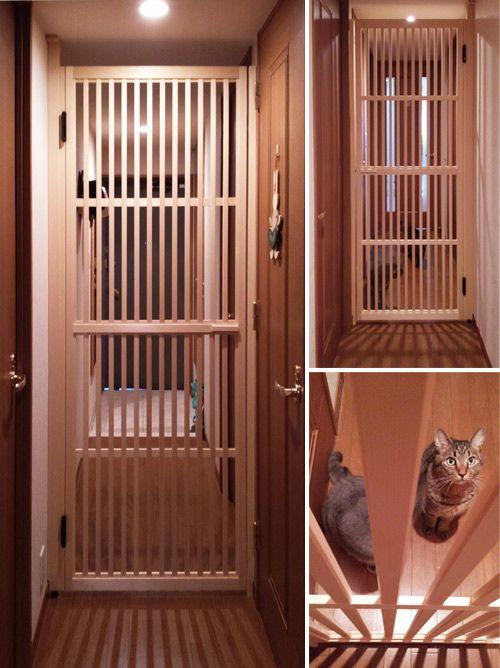 お客様の声 ねこ脱走防止とびら 猫の家具 リノベーション 猫 犬の部屋
