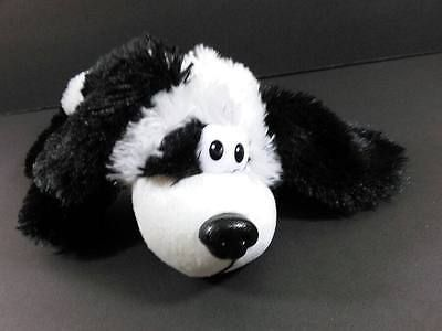 11 Black White Rollover Rover Puppy Dog Laughing Rolling Plush