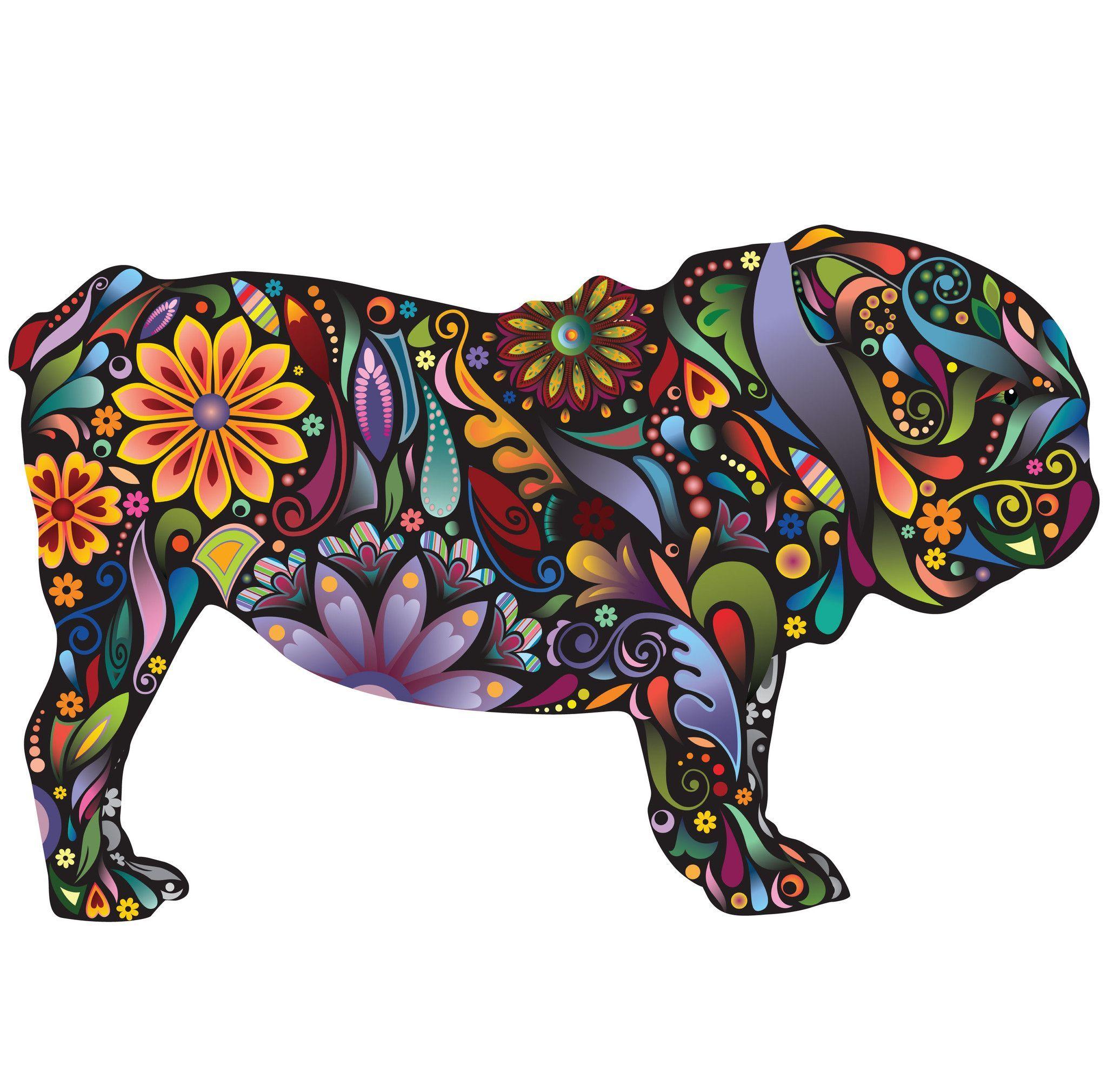 English Bulldog Dog Decal Wall Sticker