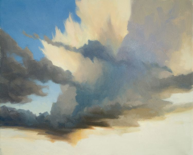 Oil Painting Of Cumulus Clouds Forming Cloud Painting Sky