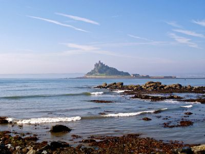 St Michael's Mount near Penzance in Cornwall.