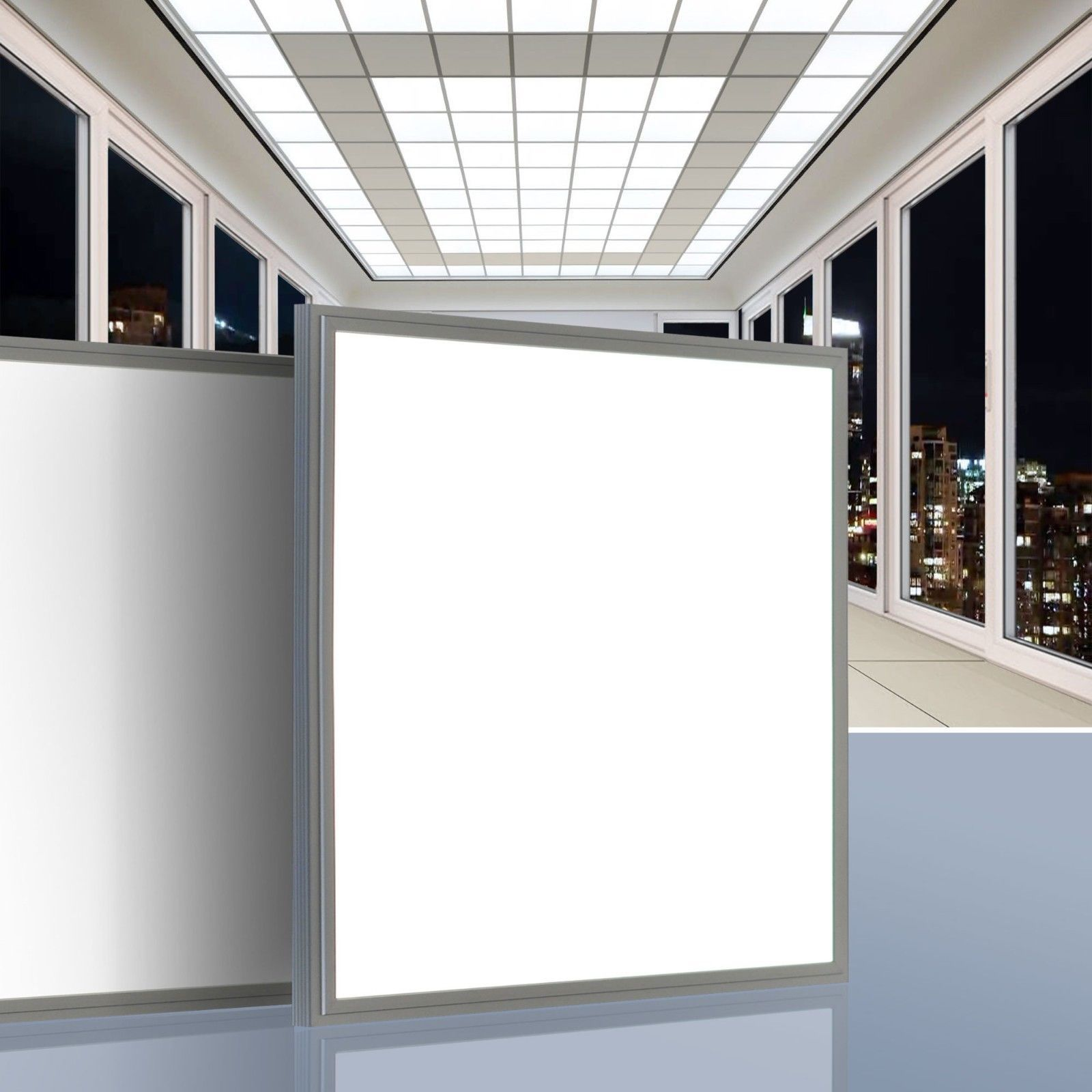 Details Zu Led Panel 45w Leuchte Lampe Einbau Deckenleuchte 62x62cm Einbauleuchte Ultraslim Einbauleuchten Led Panel Lampen