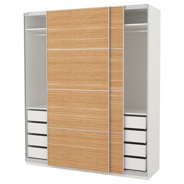 Pax Armoire Penderie Blanc Fjellhamar Bambou Noir Pax Wardrobe Ikea Pax Ikea Pax Wardrobe